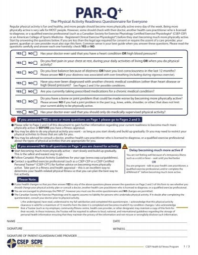 Extended Care Login >> (PAR-Q+) English - SportMedBC