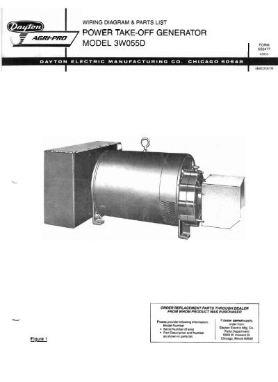 3w055d Parts List And Wiring Diagram