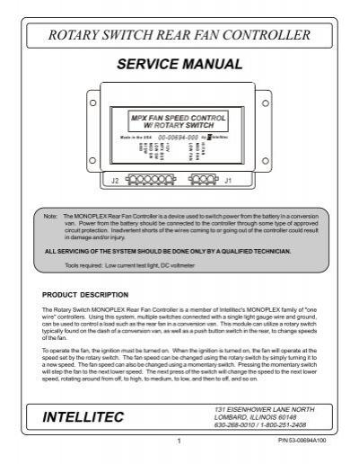 rotary switch rear fan controller intellitec service manual rh yumpu com Auto Repair Manual Service Station