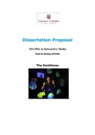 Dissertation proposal hearing