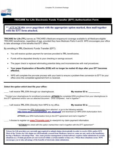 Tricare for life electronic funds transfer wps platinumwayz