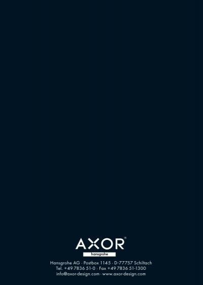 Axor design encyclopedia - Hansgrohe