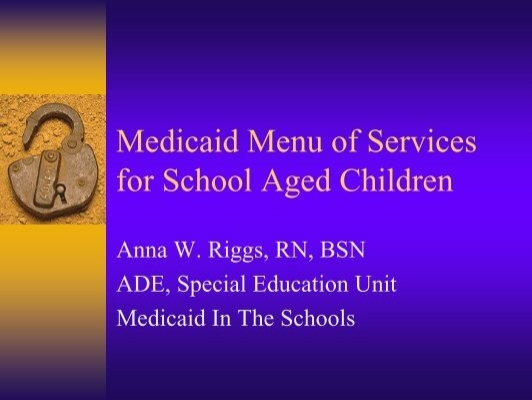 Menu Of Services Sunstate Academy Medicaid Menu Of