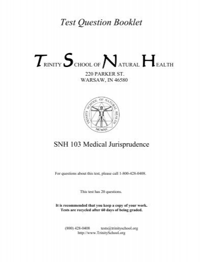 Snh103dical jurisprudence trinity school of natural health medical jurisprudence trinity school of natural health fandeluxe Image collections