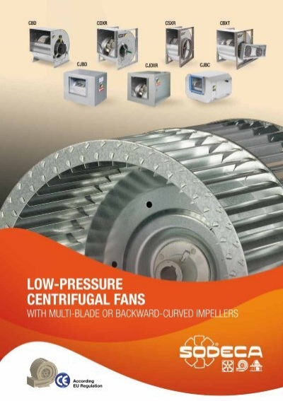 Low Pressure Blower : Low pressure centrifugal fans sodeca