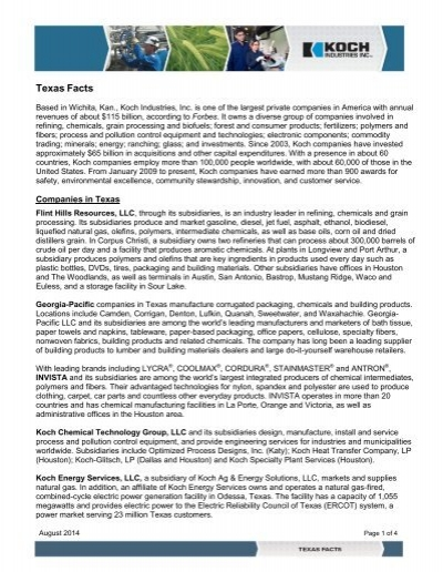 Texas Facts - Flint Hills Resources