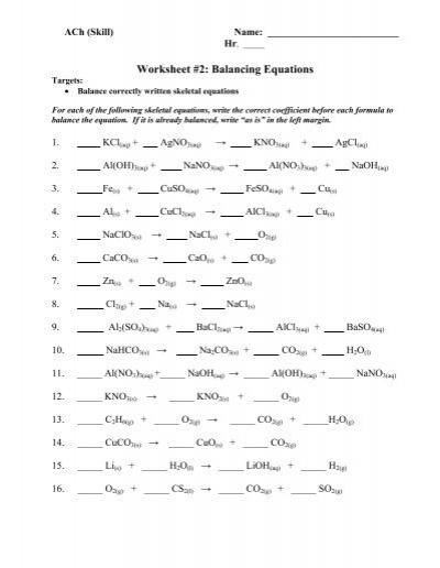 balancing equations worksheet on target kidz activities. Black Bedroom Furniture Sets. Home Design Ideas