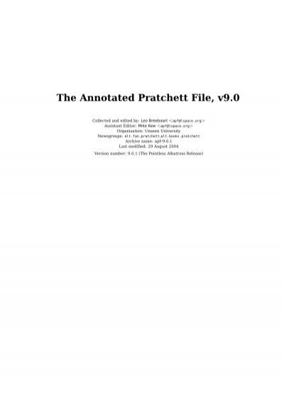 The Annotated Pratchett File V9 0 The L Space Web