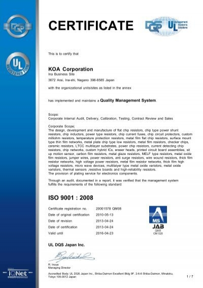 CERTIFICATE SUPPLEMENT DQS GmbH - KUKA Systems
