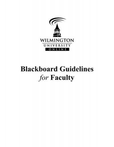 www.wilmu.edu blackboard