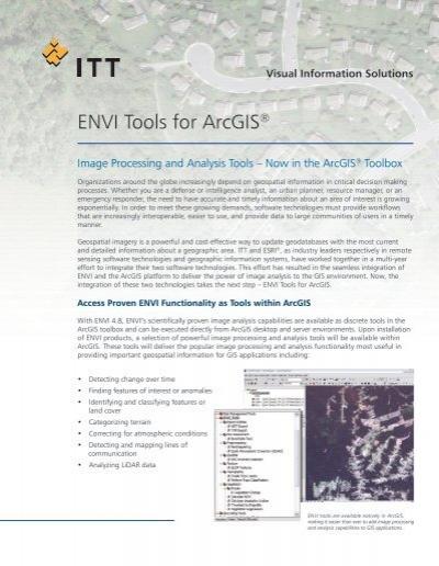 ENVI Tools for ArcGIS® - Exelis VIS