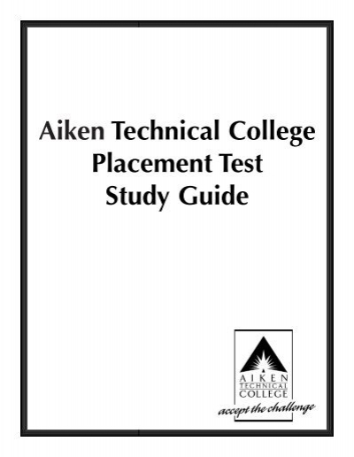 aiken technical college placement test study guide rh yumpu com