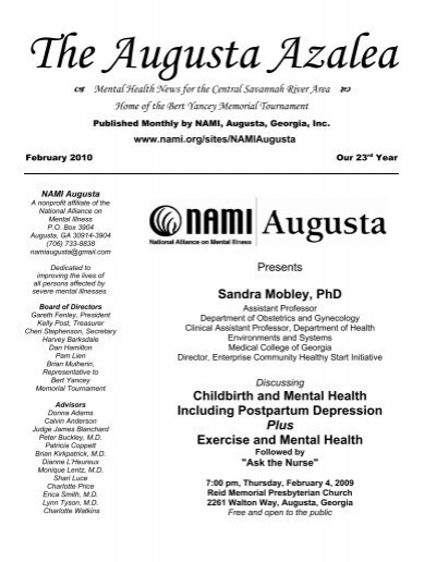 The Augusta Azalea Georgia Mental Health Consumer Network