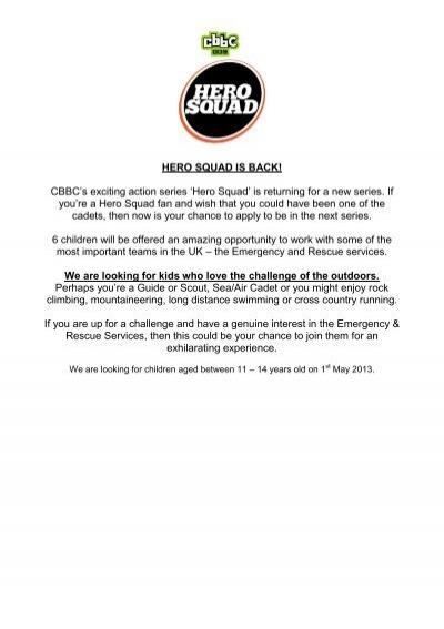 Hero Squad 2 Application Form