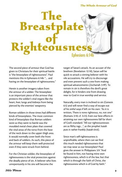 The Breastplate Of Righteousness Bible Witness