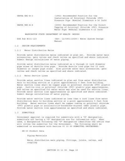Washington State Doh Water System Design Manual