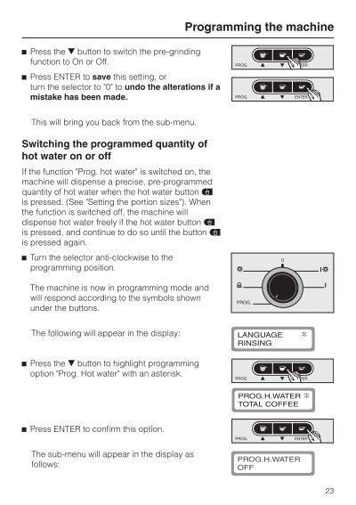 Miele Coffee Maker Descaling Instructions : Programmin