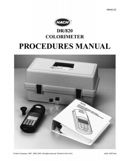 hach dr 900 procedures manual pdf