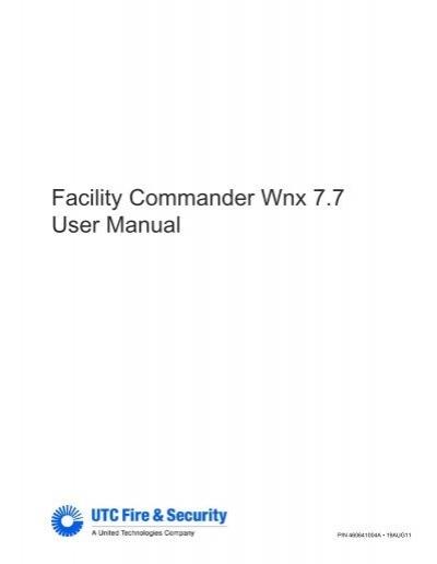 fcwnx 7 7 user manual utcfs global security products rh yumpu com facility commander 7.7 user manual Facility Commander Winx