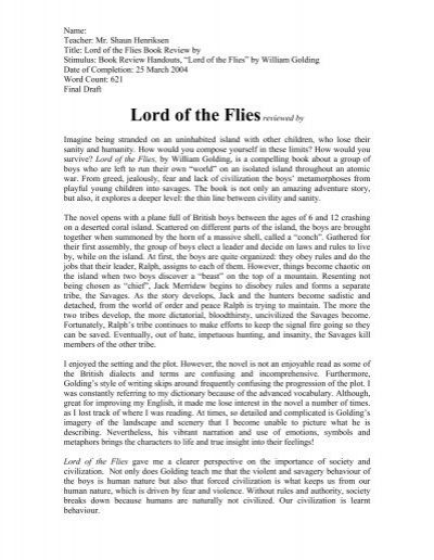 Write my lord of the flies research paper topics