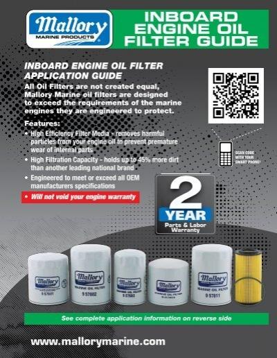 9-57802 Marine Oil Filter Mallory
