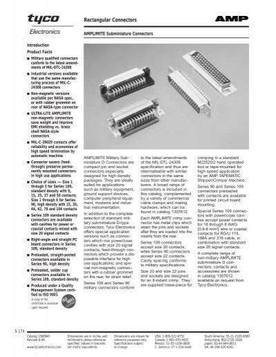PIN M24308 205089-1 FACTORY NEW CRIMP,QTY.100 M39029//64-369  D SUB