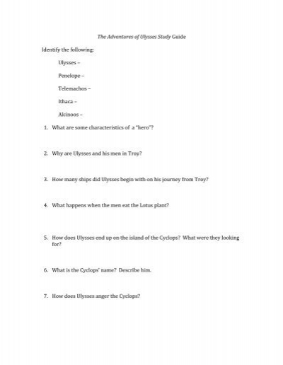 the adventures of ulysses study guide Adventures of ulysses study guidepdf adventures of ulysses study guide adventures of ulysses study guide we provide one of the most needed publication entitled adventures of ulysses study.