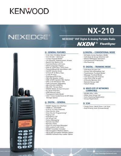 nx 210 kenwood rh yumpu com Kenwood Portable Two-Way Radios Kenwood Radio Accessories
