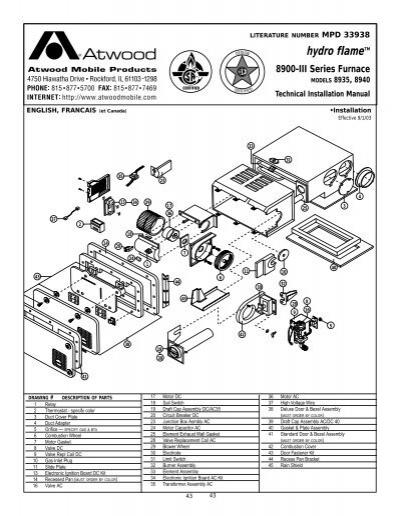 Atwood mpd 91043 Manual