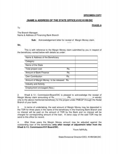 Acknowledgement Letter For Receiving Documents from www.yumpu.com