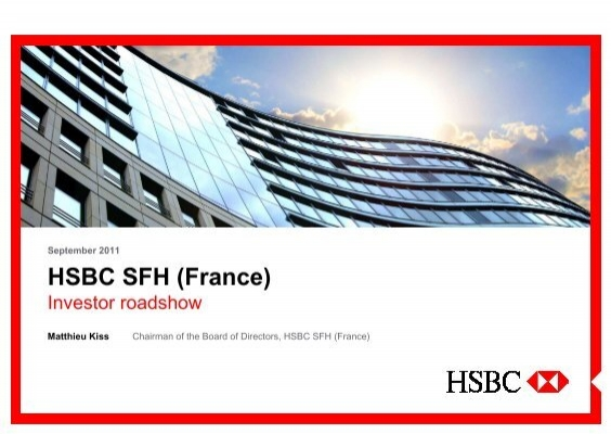 HSBC SFH (France) - Investor Presentation - Version MK (for IR