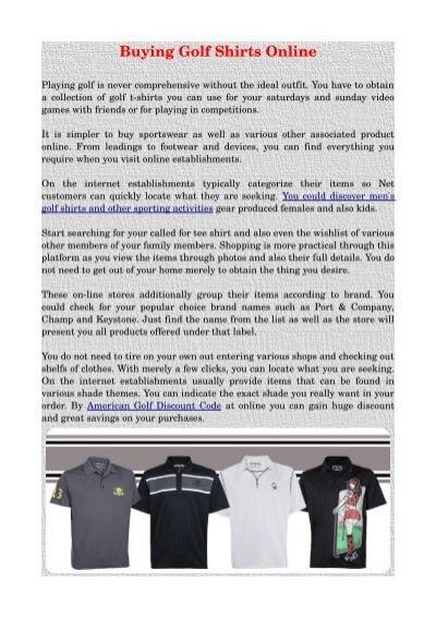 discount golf shirts
