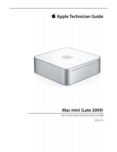 apple technician guide mac mini late 2009 tim id au rh yumpu com 2006 MacBook Pro MacBook Pro 2017
