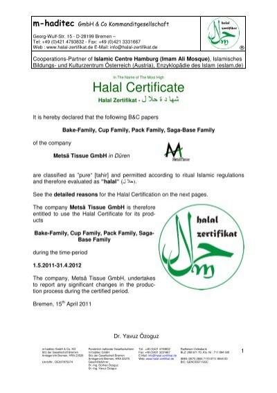 Halal Certificate - sagacook.com