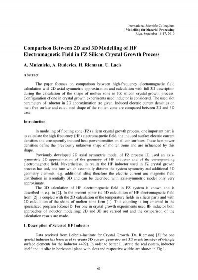 Comparison between 2D and 3D Modelling of HF Electromagnetic