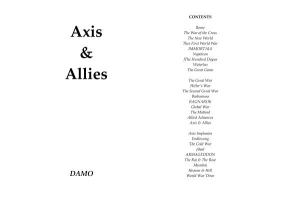 Axis Allies Damowords