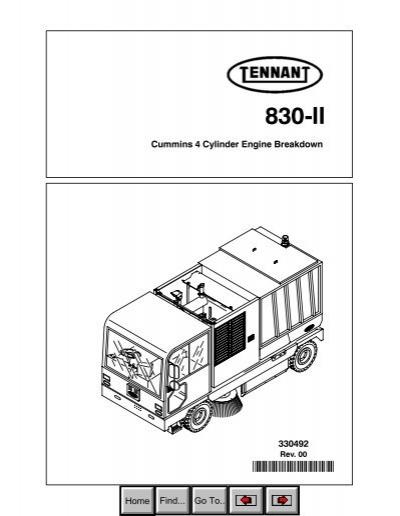 830 Ii Cummins 4 Cylinder Na Parts Manual