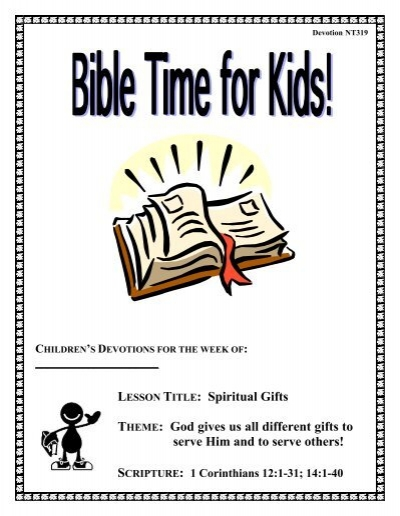 Lesson title spiritual gifts theme god gives us all ccq negle Choice Image