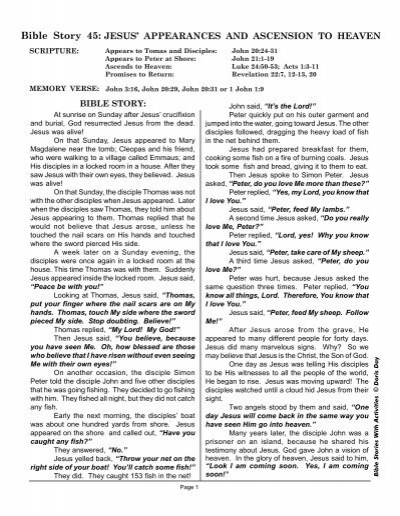 BSA 45 Jesus' Appearances and Ascension PDF     - Bible Storytelling
