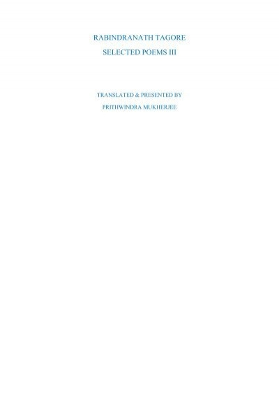 selected poems of rabindranath tagore