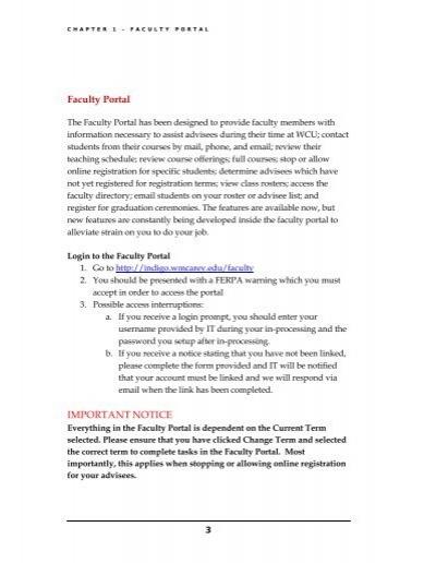 Chapter 1 Faculty Por