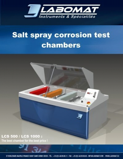 Corrosion Test Chamber : Salt spray corrosion test chambers labomat
