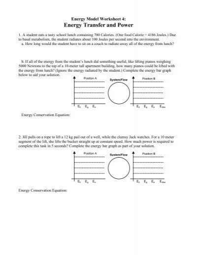 Energy Model Worksheet 4 - Modeling Physics