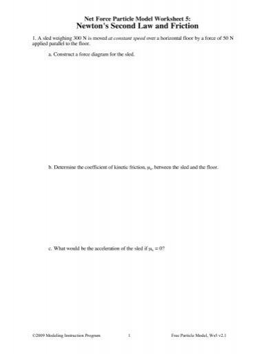 Worksheet 5 - Modeling Physics