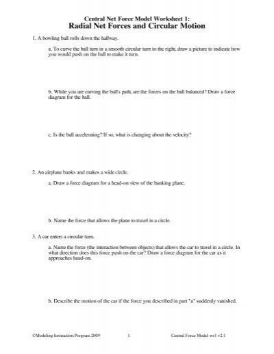 Worksheet 1 - Modeling Physics