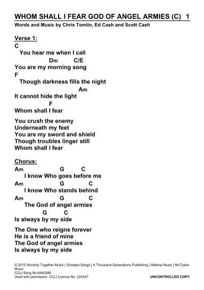 whom shall i fear god of angel armies (c) 1