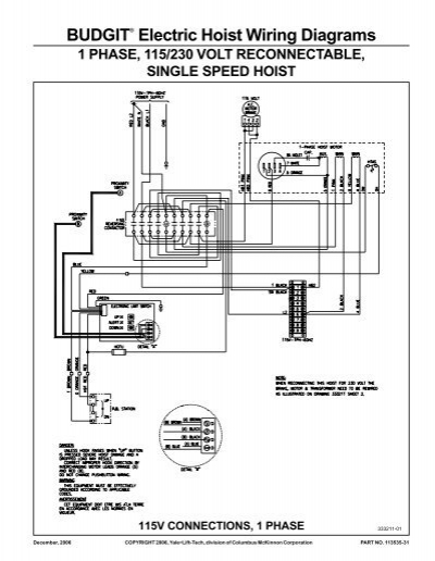 budgit electric hoist wiring diagrams hoists direct rh yumpu com Crane Wiring-Diagram Crane Wiring-Diagram