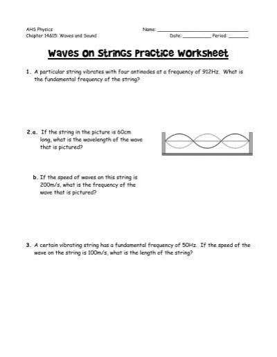 Wave Speed Worksheet Worksheets Tutsstar Thousands Of