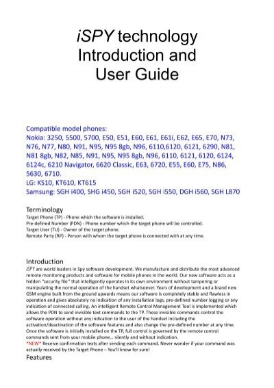ispy technology introduction and user guide rh yumpu com Kindle Fire User Guide nokia e63 user guide pdf download