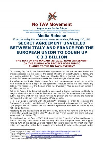 Secret Agreement Unveiled Between Italy And France For The